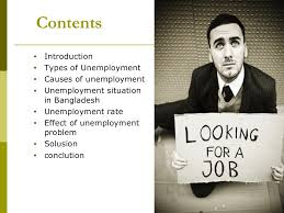 unemployment problem in presentation