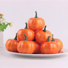 16PCS/Pack 5.5CM <b>Halloween Artificial Pumpkin Simulation Fake</b> ...