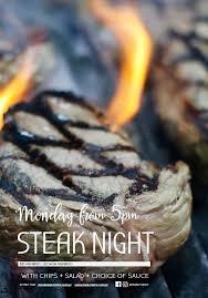 Monday – <b>Steak Night</b> | Manly 16ft Skiff Club