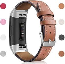 Hotodeal <b>Leather Band</b> Compatible Charge 3 Charge 3 SE, Classic ...