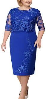 NOMUSING Women <b>Elegant Lace</b> Midi Dress Ladies Cocktail ...