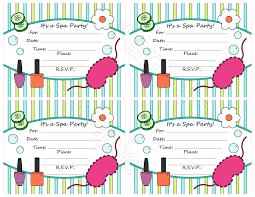 spa party invitations printable mickey mouse invitations printable spa birthday party invitations spa party invitation template