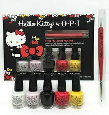 Nail Lacquer opi- MINI Hello Kitty Friend Pack- <b>5 colors</b> x <b>3.75</b>ml+ ...
