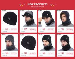 AETRUE Skullies Beanies <b>Women Knitted Hat</b> Scarf Female Winter ...