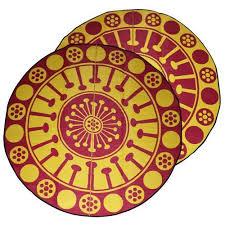EUCALYPTUS FLOWER Aboriginal Design Recycled Mat, Yellow ...