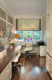 urbane shingle style residence inspiration for a transitional home office remodel in san francisco with a custommade custom office