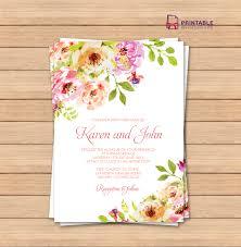 pdf wedding invitation template editable texts vintage pdf wedding invitation template editable texts vintage floral borders