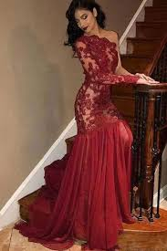 <b>Sexy</b> Mermaid One Shoulder <b>Red</b> Long <b>Prom</b>/<b>Evening Dress</b> with ...