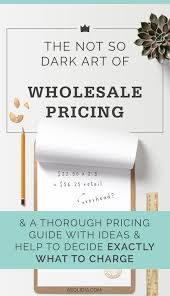 <b>Wholesale Pricing</b> Tips and Formulas