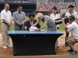 「2013, matsui retirement ceremony in yankee stadium」の画像検索結果
