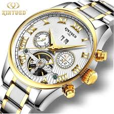 <b>KINYUED Automatic Mechanical</b> Tourbillon Watch Steel Strap <b>Men's</b> ...