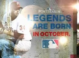 "Baseball's playoff slogan: ""<b>Legends are born in</b> October"" - MLB ..."