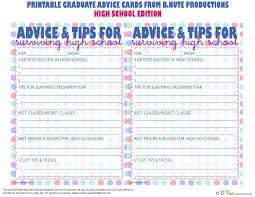 bnute productions printable graduate advice cards college printable graduate advice cards high school edition