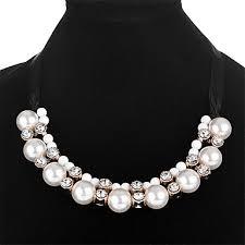 Women's Cubic <b>Zirconia</b> Statement Necklace Ladies <b>Fashion</b> ...