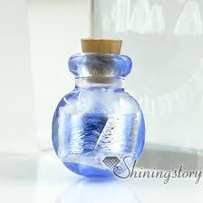 hand blown glass bottle blown glass bottle pendant