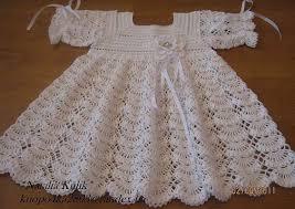 Красивое платье <b>крючком</b> для девочки на крестины со схемой и ...
