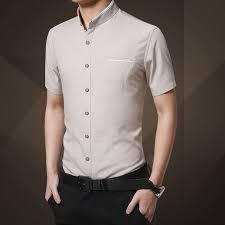 <b>Short</b>-<b>sleeved Shirt Men's</b> Summer <b>Slim</b> Solid Color Youth <b>Shirt</b> Half ...