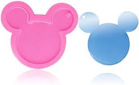 <b>1 Pcs Mickey</b> Mouse Head Shape Pendant Keychain Silicone Mold ...