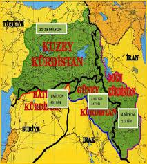 kürdistan haritası ile ilgili görsel sonucu