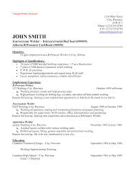 certified welder resume template certified welder resume