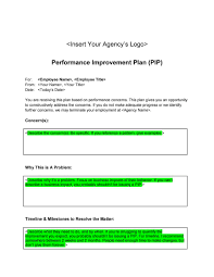 performance improvement plan templates examples performance improvement plan template 25