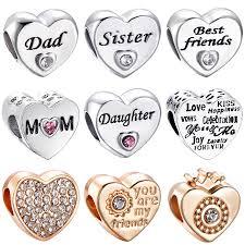 <b>CUTEECO Silver Plated Sweet</b> Romantic Rainbow Heart Charm ...