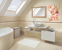 Светлая, бежевая ванная комната в классическом стиле на ...