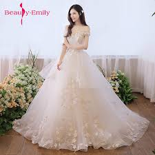 <b>Beauty Emily Luxury</b> Lace Up White Wedding gown Dresses 2018 ...