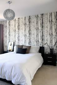 room elegant wallpaper bedroom:  images about wallpaper on pinterest tree wall fabric wallpaper and accent walls