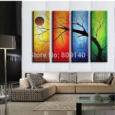 multi panel office framed wall art sample amazing yellow orange blue green branches simple pillow lamp artwork for office walls
