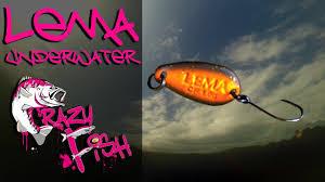Приманки под водой. <b>Crazy Fish</b>. Lema. Underwater. - YouTube
