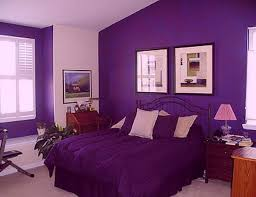 bedroom decorating idea purple theme