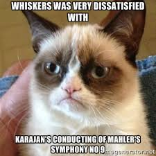 Whiskers was very dissatisfied with Karajan's conducting of ... via Relatably.com