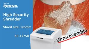 <b>KS</b> 1275H, High Security paper shredder, <b>DAEJIN KOSTAL</b>