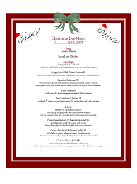 christmas menu template templates in pdf word excel christmas eve menu