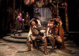 chicago theater review cyrano de bergerac chicago shakespeare l to r ryan borque harry groener and sean fortunato in chicago shakespeare s