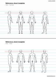 ref sheet template b by chakhabit drawing references ref sheet template b by chakhabit