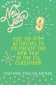 8 Fun, No Prep Activities to <b>Rock</b> the <b>New Year</b> in the ESL Classroom