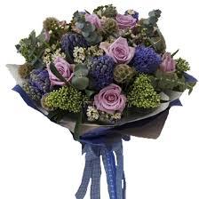 <b>Букет</b> с гиацинтами и сиреневой розой (арт. <b>1003</b>) купить за ...