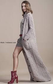Вязаное <b>пальто</b> спицами от <b>Malo</b>, осень 2014 | Вяжем с Лана Ви ...