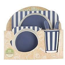 Baby Feeding <b>Bamboo</b> Kids Meal Set <b>Eco</b>-<b>Friendly</b> Feeding 5pcs ...