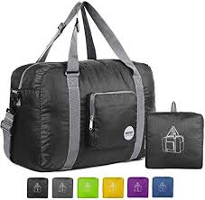 WANDF <b>Foldable Travel</b> Duffel <b>Bag Luggage</b> Sports Gym Water ...