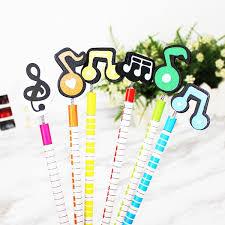 Buy 6Pcs Pencils <b>Creative</b> Cartoon Cute <b>Note Music</b> Pencils & Pen ...