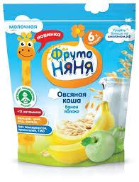 <b>Каша ФрутоНяня молочная овсяная</b> с яблоком и бананом (с 6 ...