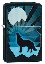 <b>Зажигалка Zippo Wolf</b> and Moon с покрытием Black Matte, 29864 ...