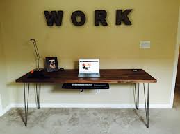 full front view of desk build rustic office desk