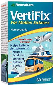 Natural Care <b>Vertifix for Motion Sickness</b> - 60 Vegetarian Capsules ...