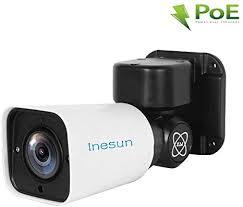 <b>Inesun IP</b> PoE Security Camera, 5MP HD 2592x1944p <b>Outdoor PTZ</b> ...