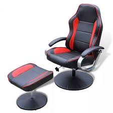 Racer <b>TV Recliner</b> Armchair Footstool Set <b>Faux</b> Leather Upholstered ...