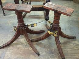 1950 Dining Room Furniture John Mark Power Antiques Conservator Duncan Phyfe Style Mahogany